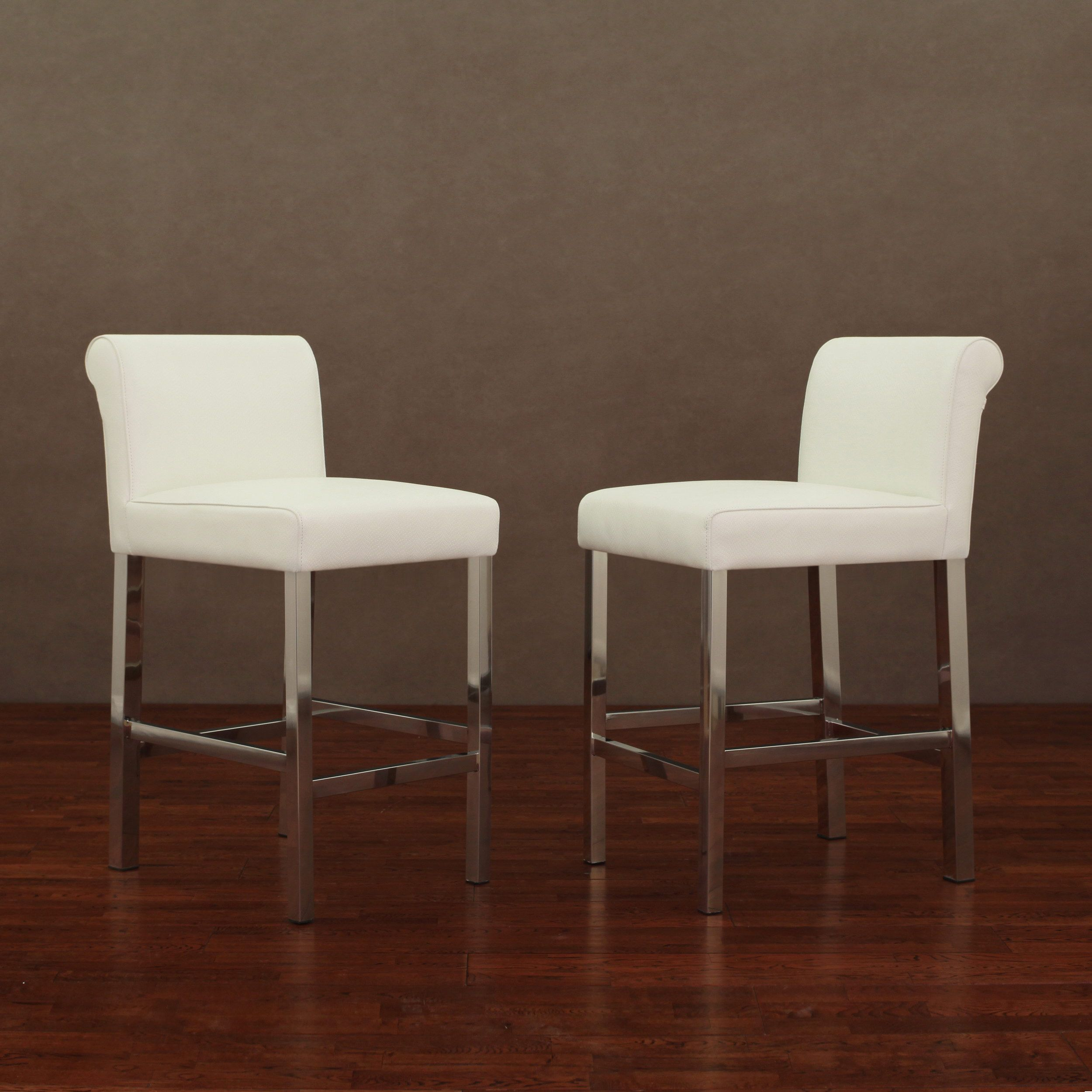 Other Home Furnitures Bangalore Furniture Manufacturers: Cosmopolitan Stainless Steel White Snake Leather Counter
