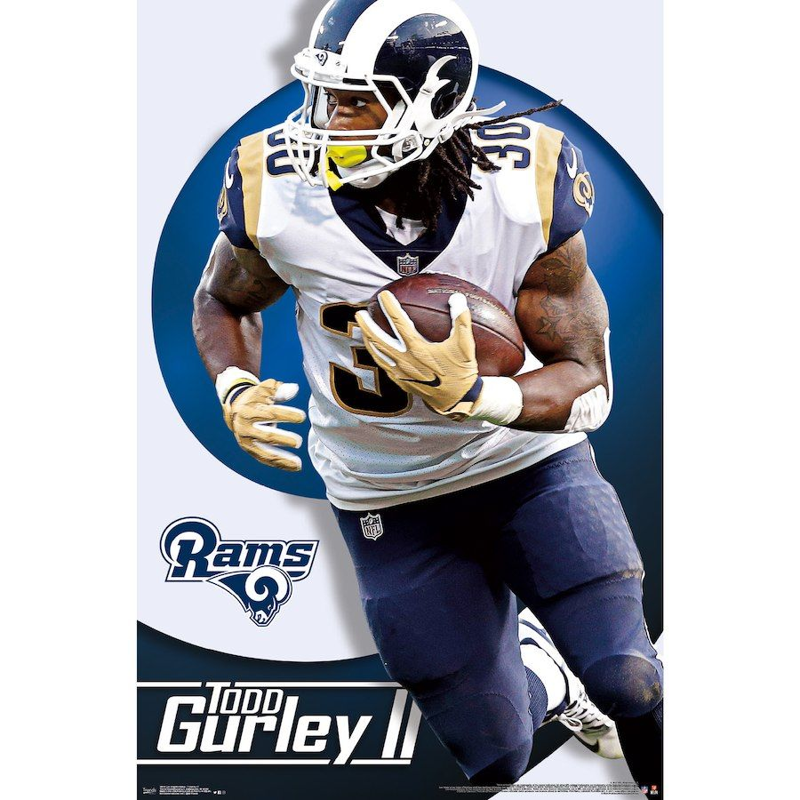 Todd Gurley Ii Los Angeles Rams 22 X 34 Player Poster Todd Gurley Fantasy Football Shirt Official Nfl Football