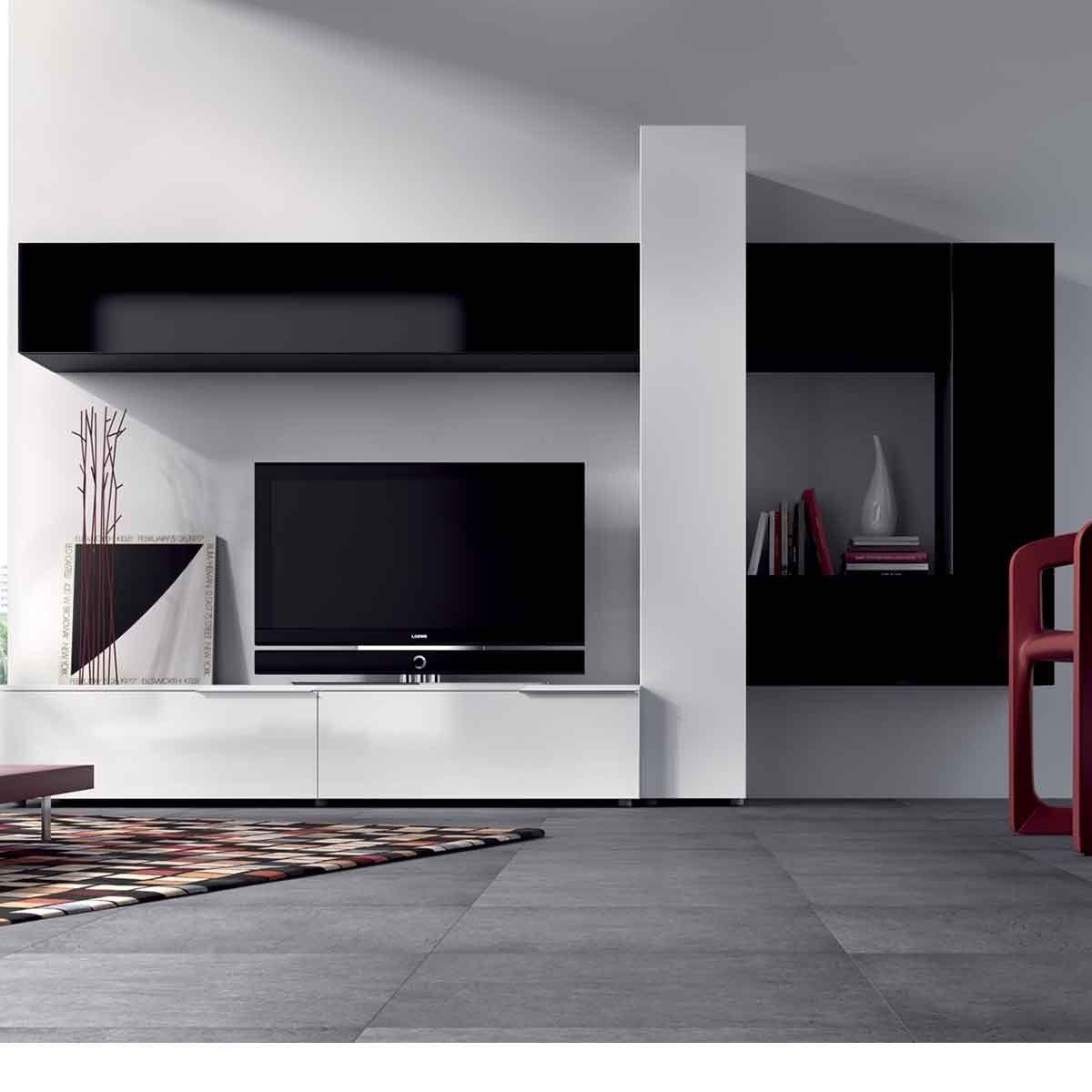 Meuble Mural Tv Design Elanne Atylia Atylia La Redoute Mobile  # Model D'Element Mural Laque Du Salon Haut De Gamme