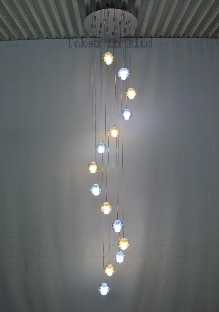 Aliexpress Com Buy 14 14 Bubble Glass Ball Led Pendant Lamp Meteor Shower Crystal Light Sphere Suspension Lighting Fr Bubble Glass Pendant Lamp Crystal Light