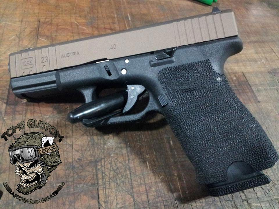 Glock 26 Slide With Burnt Bronze Cerakote Cerakote Ideas Custom