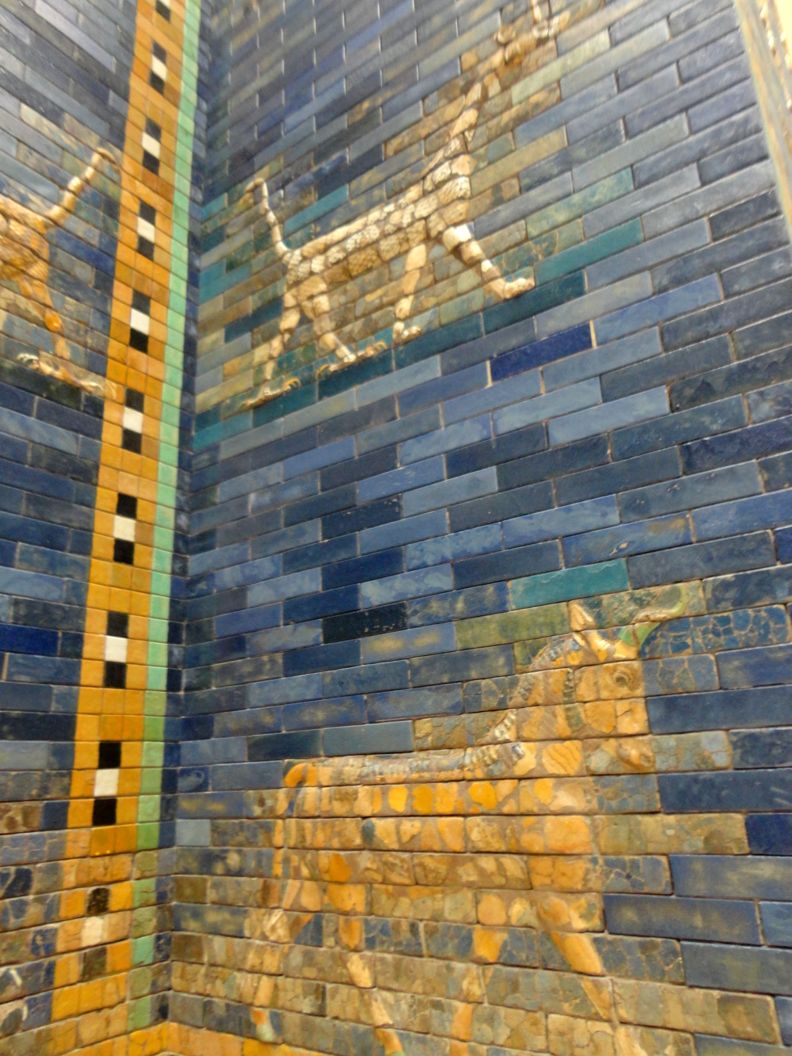 Pergamon Museum Porta De Ishtar Da Babilonia Porta De Ishtar Berlim Alemanha Berlim