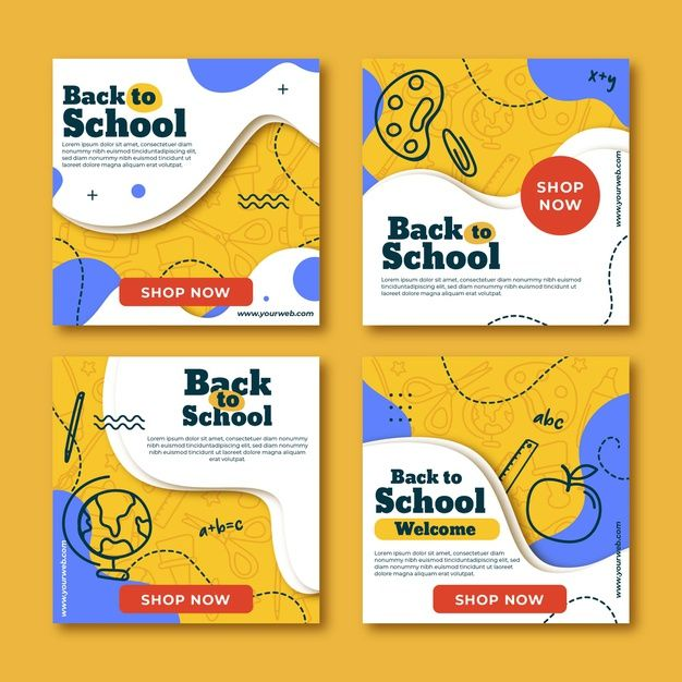 Download Flat Back To School Instagram Posts for f...