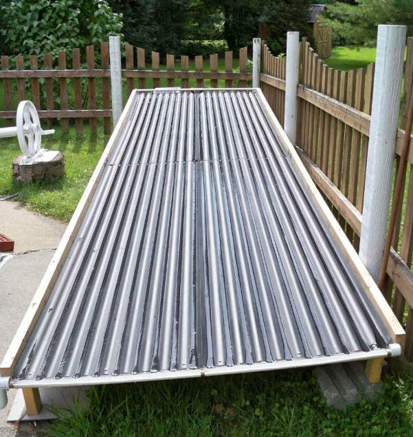 A unique open flow diy solar pool heating collector for - Swimming pool heating system design ...