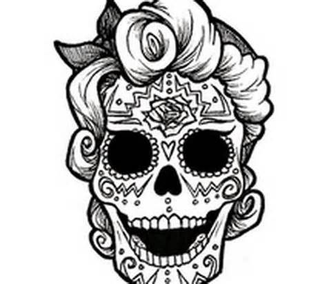Catrina Day of the Dead Coloring Pages, dead decoration ideas ...