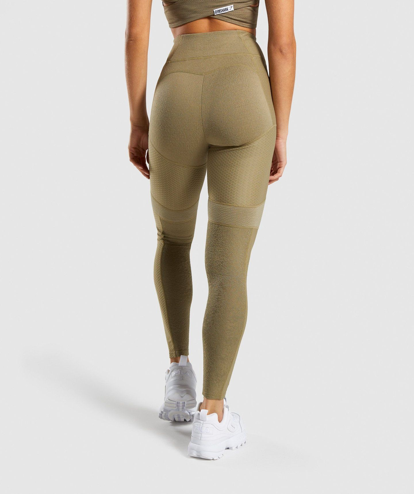 3ad40f43a9 Gymshark True Texture Leggings - Washed Khaki in 2019 | fit ...