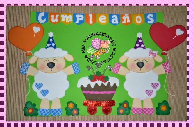 Calendario hecho en foami para niños - Imagui | Material :-) Para ...