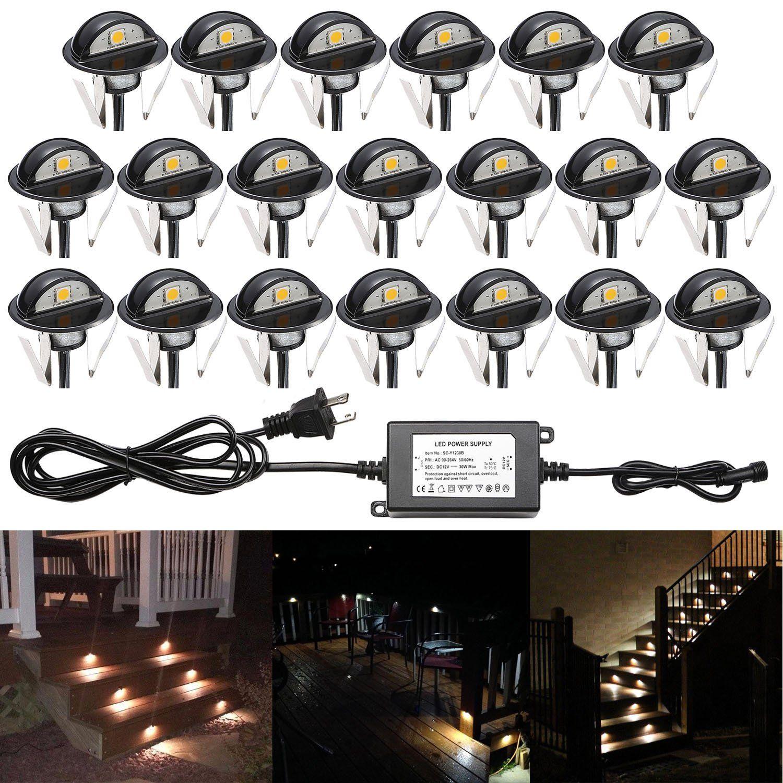qaca 20pcs recessed led deck lighting