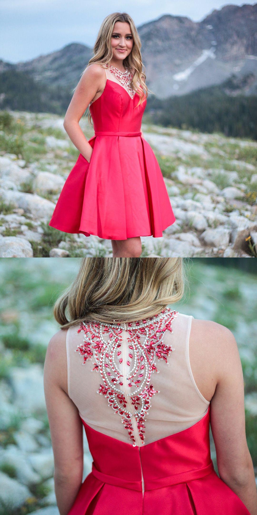 Short red homecoming dress homecoming dress red homecoming