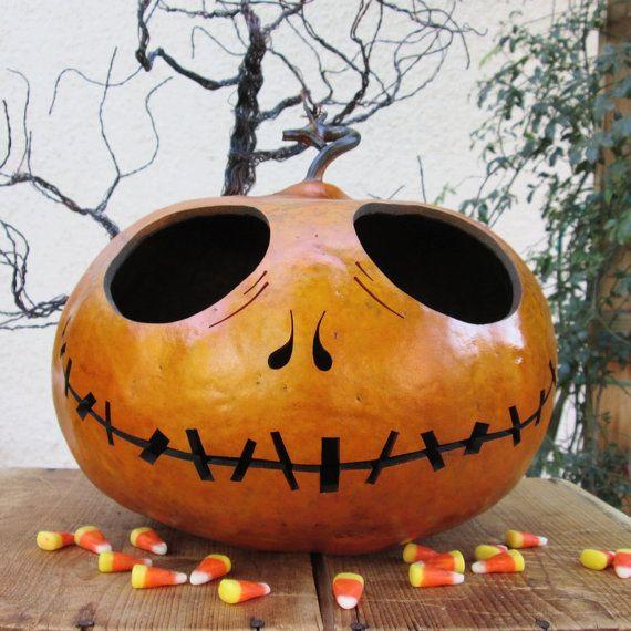 Halloween Gourd Jack O Lantern Large Jack by pinchmeboutique - tim burton halloween decorations
