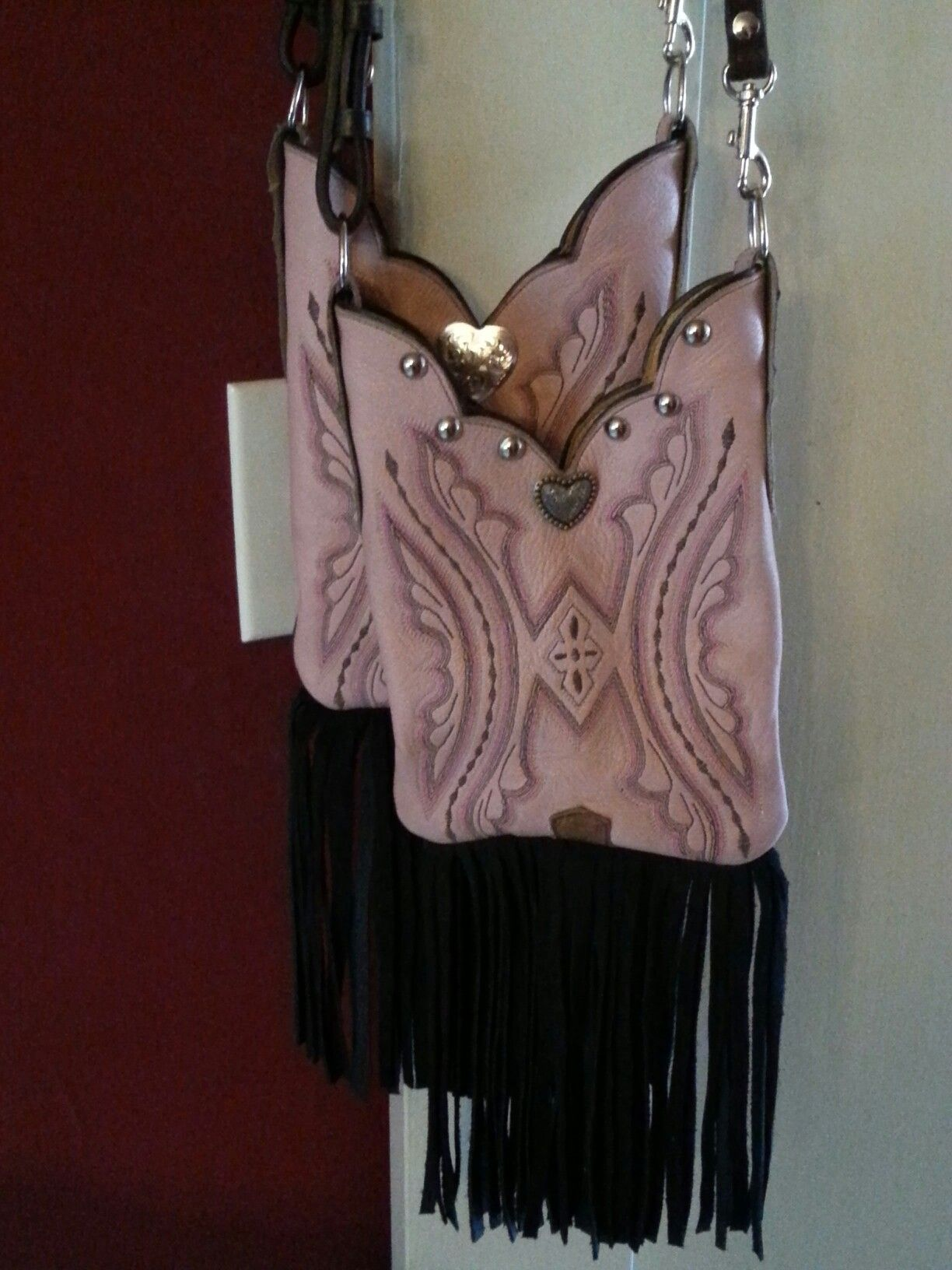 Pink Boot Top Purse