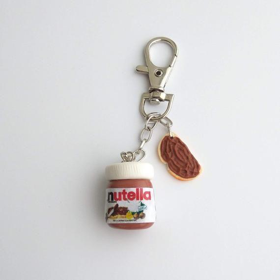 Nutella Jar And Chocolate Sandwich Charm Nutella Keychain Cute Etsy Food Charms Cute Keychain Mini Charm