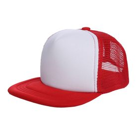 e5309099880aa Opentip.com  Opromo Blank Kids Two Tone Mesh Flat Bill Trucker Cap -  Adjustable Snapback