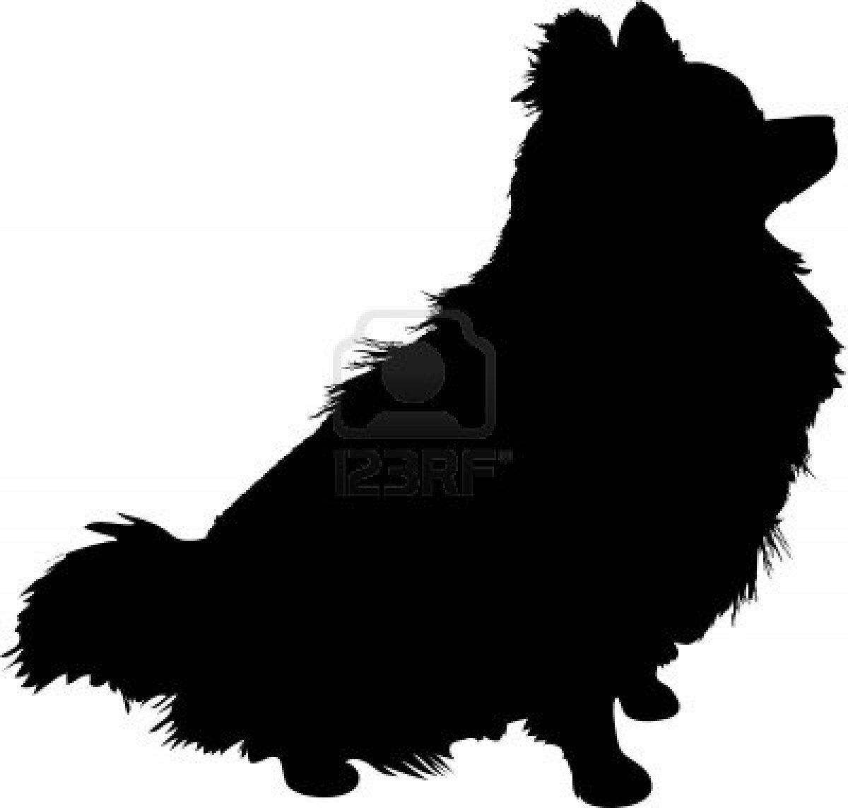 A Silhouette Of A Sitting Pomeranian Dog In Profile Dog Silhouette Pomeranian Dog Dog Tattoos [ 1143 x 1200 Pixel ]