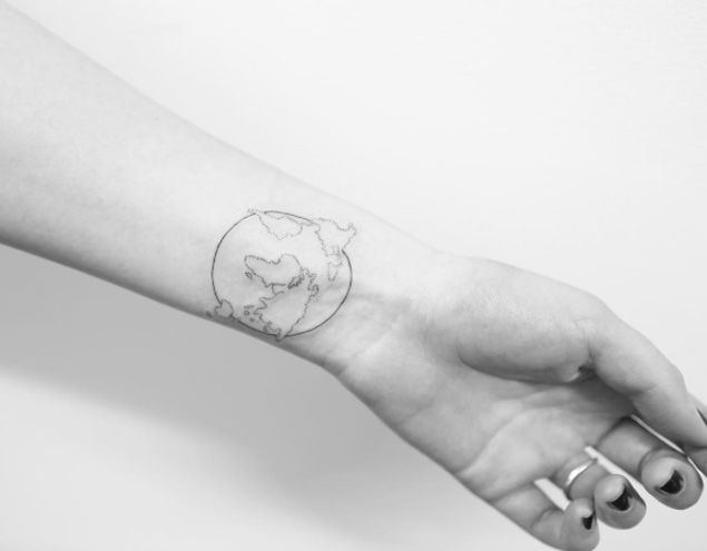 Minimalism map tattoo on wrist by joice wang ideas for tattoos on minimalism map tattoo on wrist by joice wang ideas for tattoos on neck pinterest map tattoos and tattoo gumiabroncs Images