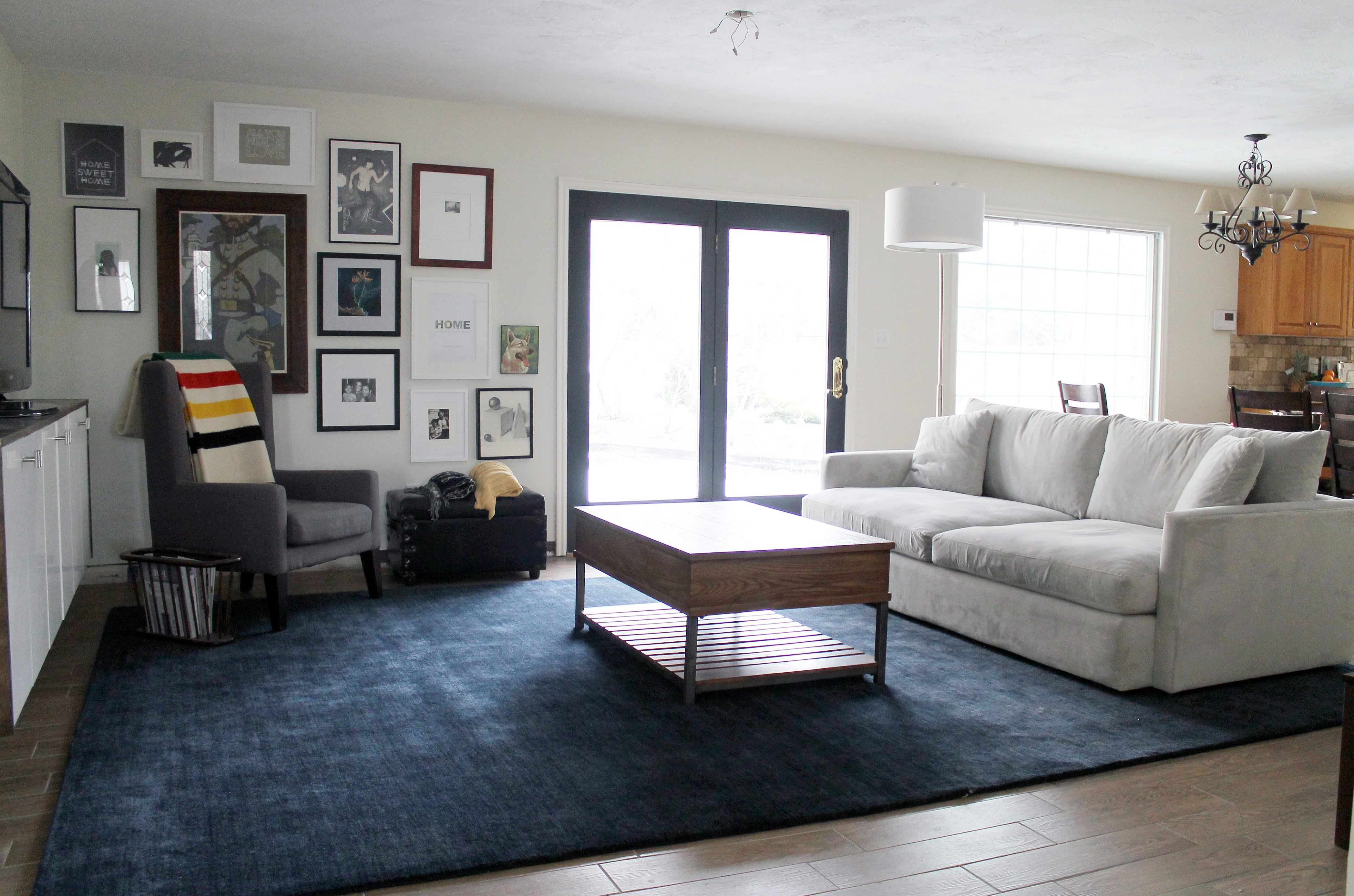 Large Area Rug For Living Room In Dark Blue Color Blue Rugs
