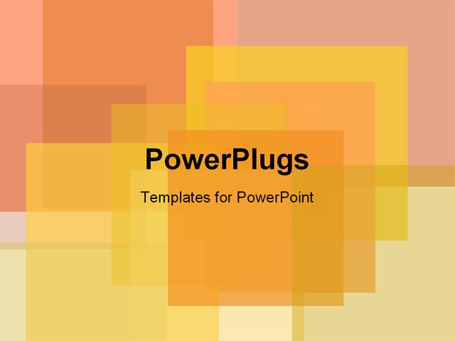 Ppt Template Square Design Title Slide Power Point