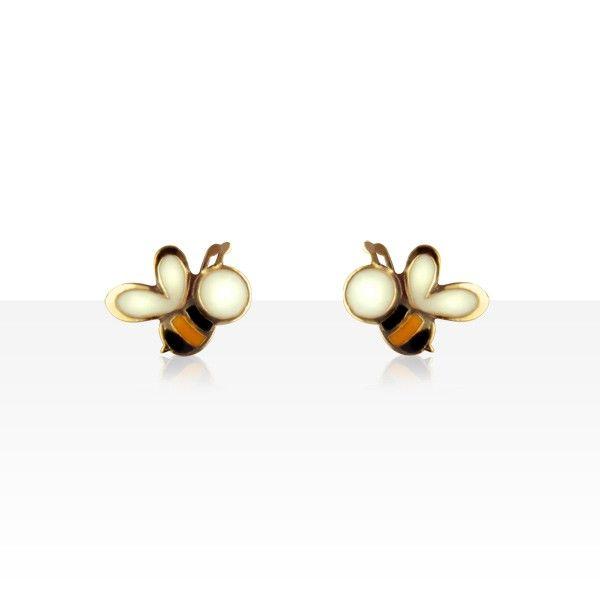 bijoux enfant b b boucles d 39 oreilles or 375 abeille jaune et noire bijoux enfants. Black Bedroom Furniture Sets. Home Design Ideas