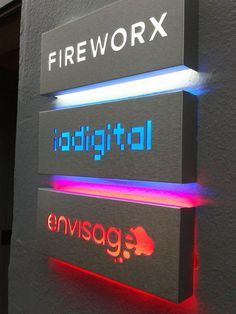 Backlit Directory Signs Powder Coated Sheet Metal Acrylic Signage Architectural Signage Office Signage