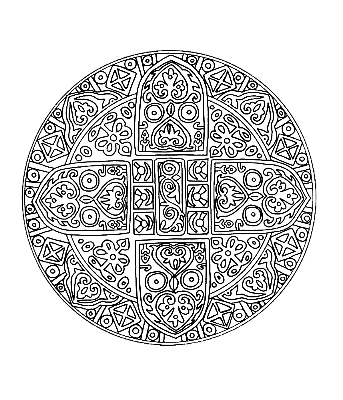 Free Coloring Page Coloring Free Mandala Difficult Adult