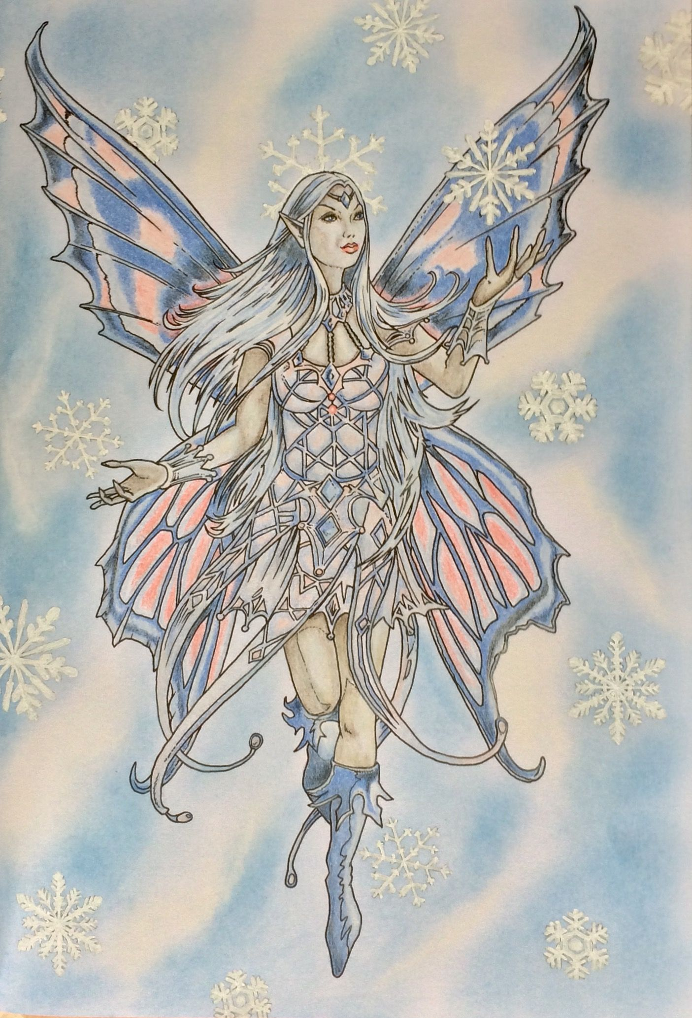 Anne Stokes Prismacolors Art Humanoid Sketch Anne Stokes