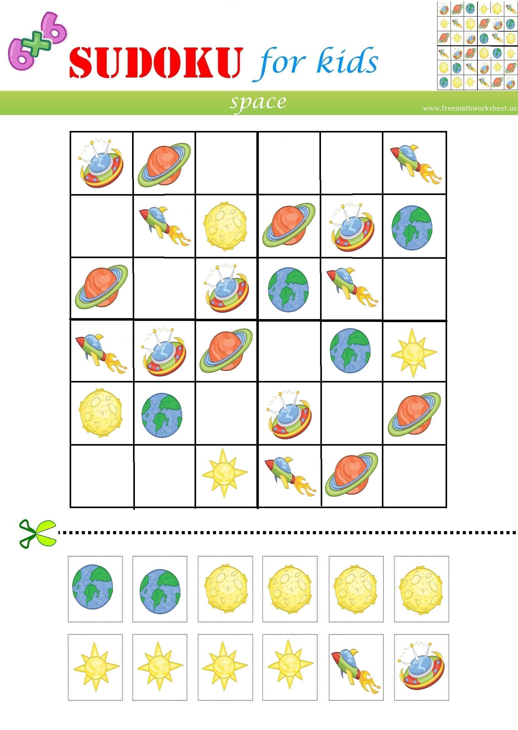 Space Sudoku Free Math Worksheets Free Math Worksheets Sudoku Free Math [ 2336 x 1659 Pixel ]