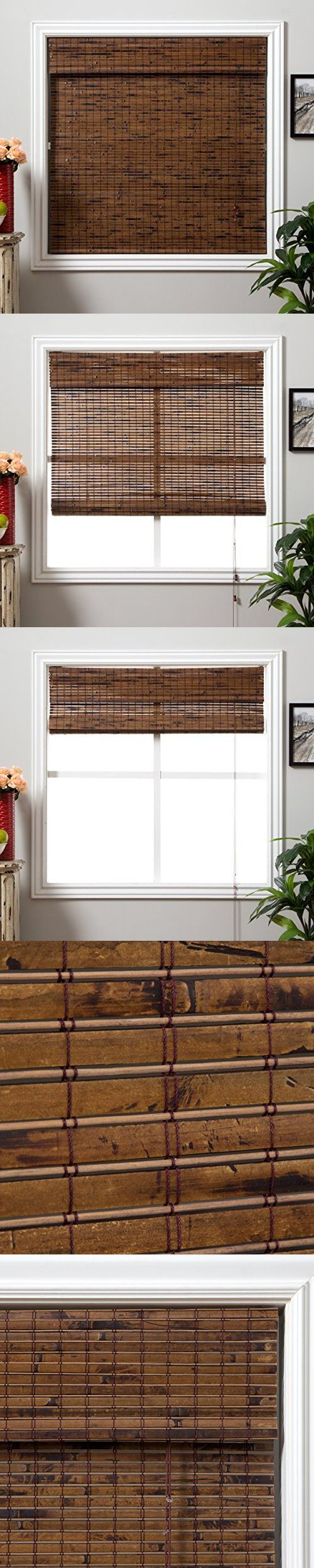 Arlo blinds java vintage light filtering bamboo roman shades blinds