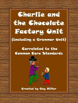 Charlie and the Chocolate Factory Novel Study: vocabulary ...