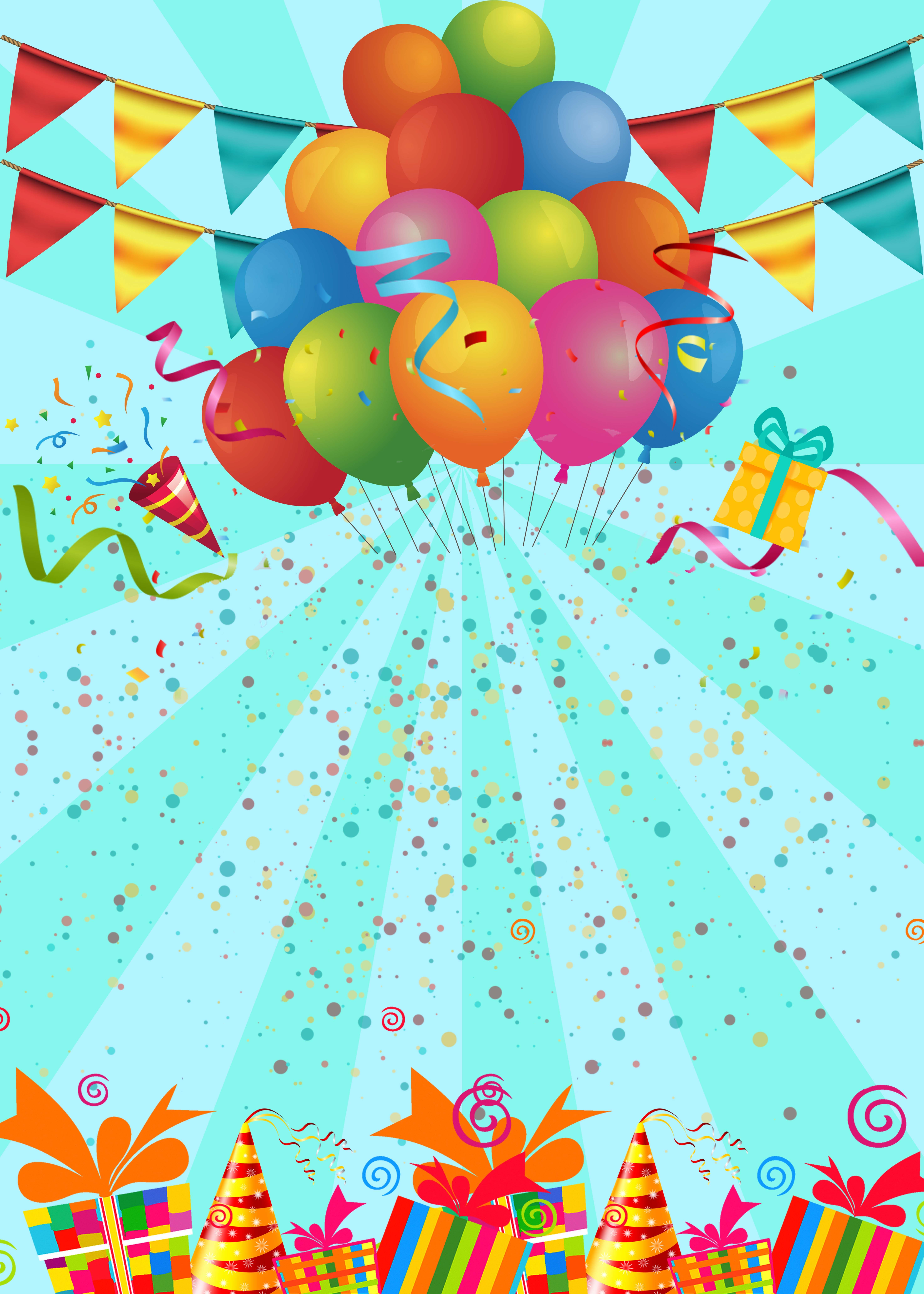 Birthday Party Poster Background Template Birthday Background Design Happy Birthday Posters Happy Birthday Frame