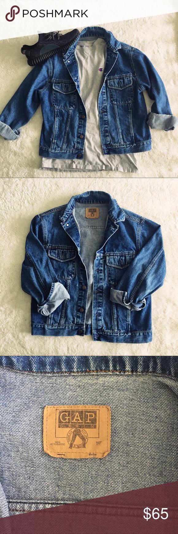 Vintage oversized ss gap denim jacket super cute and on trend
