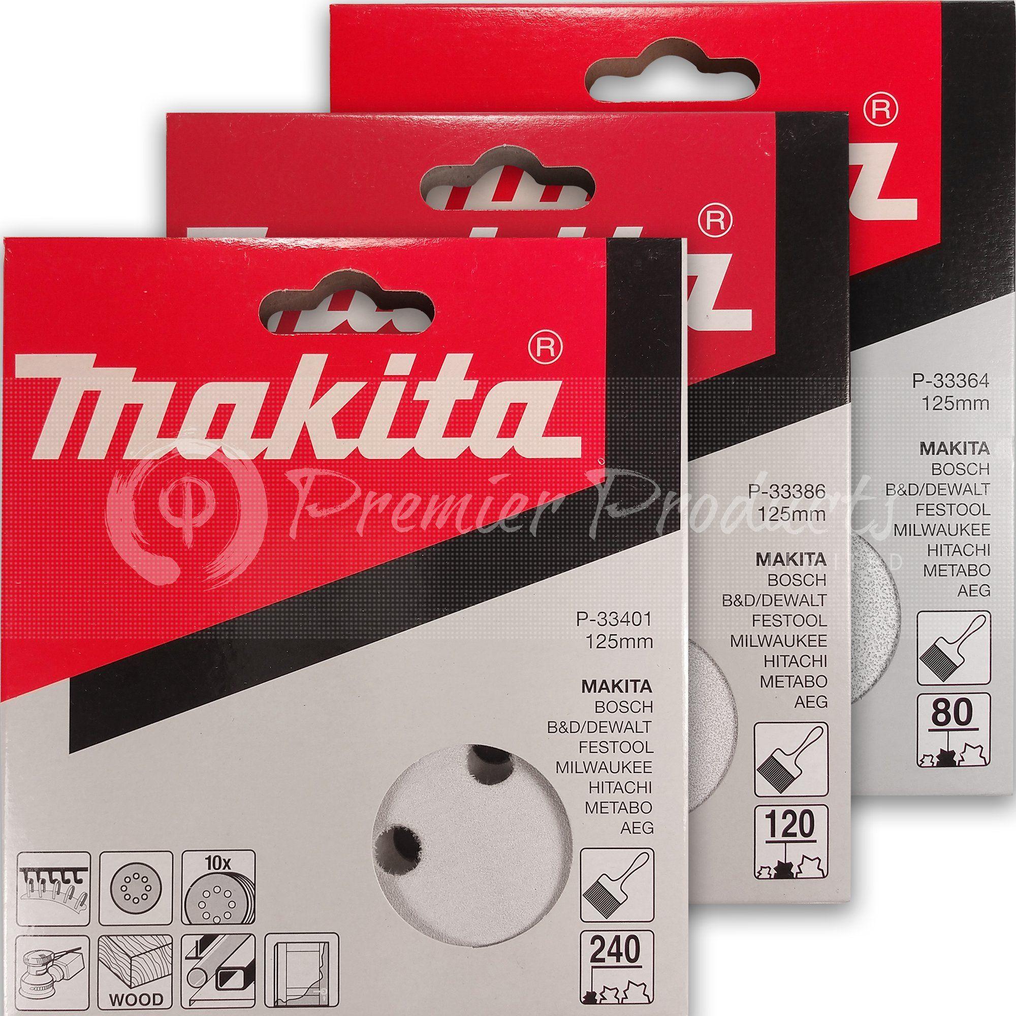 Makita 30 Piece Multi Grit Sanding Disc Set For 5 Inch Random Orbit Sanders For Wood Metal Makita Sanding Sandpaper