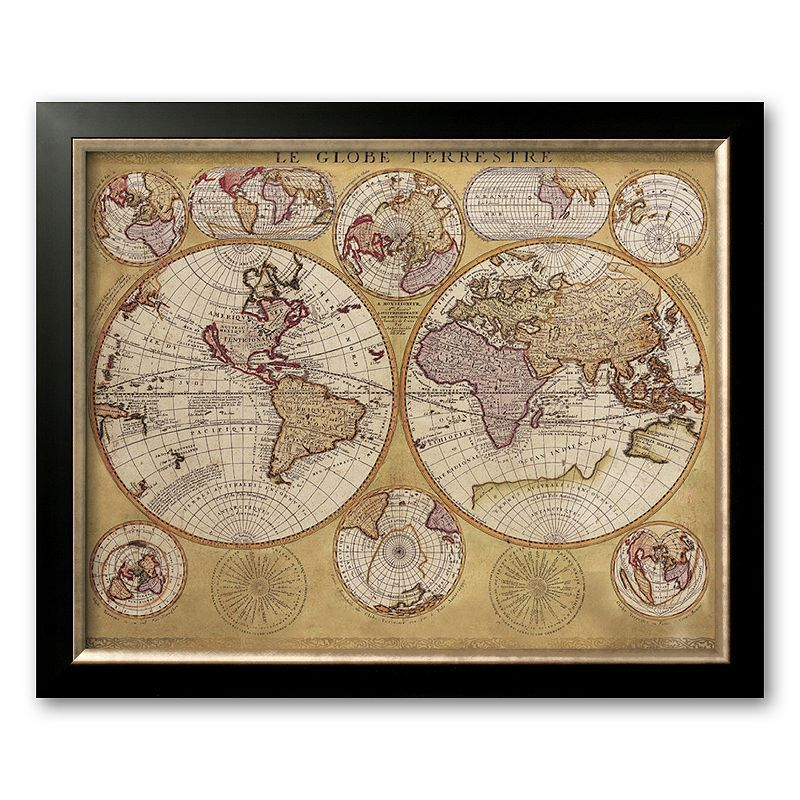 Art antique map globe terrestre 1690 framed art print by art antique map globe terrestre 1690 framed art print by vincenzo coronelli gumiabroncs Gallery