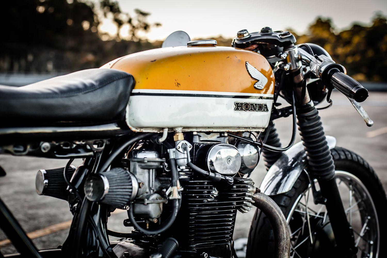 Honda CB350 1970 Cafe Racer Gold Tank