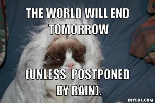 31bc8f3d135bb35675ce9666cba3274e grumpy cat meme grumpy cat meme generator the world will end