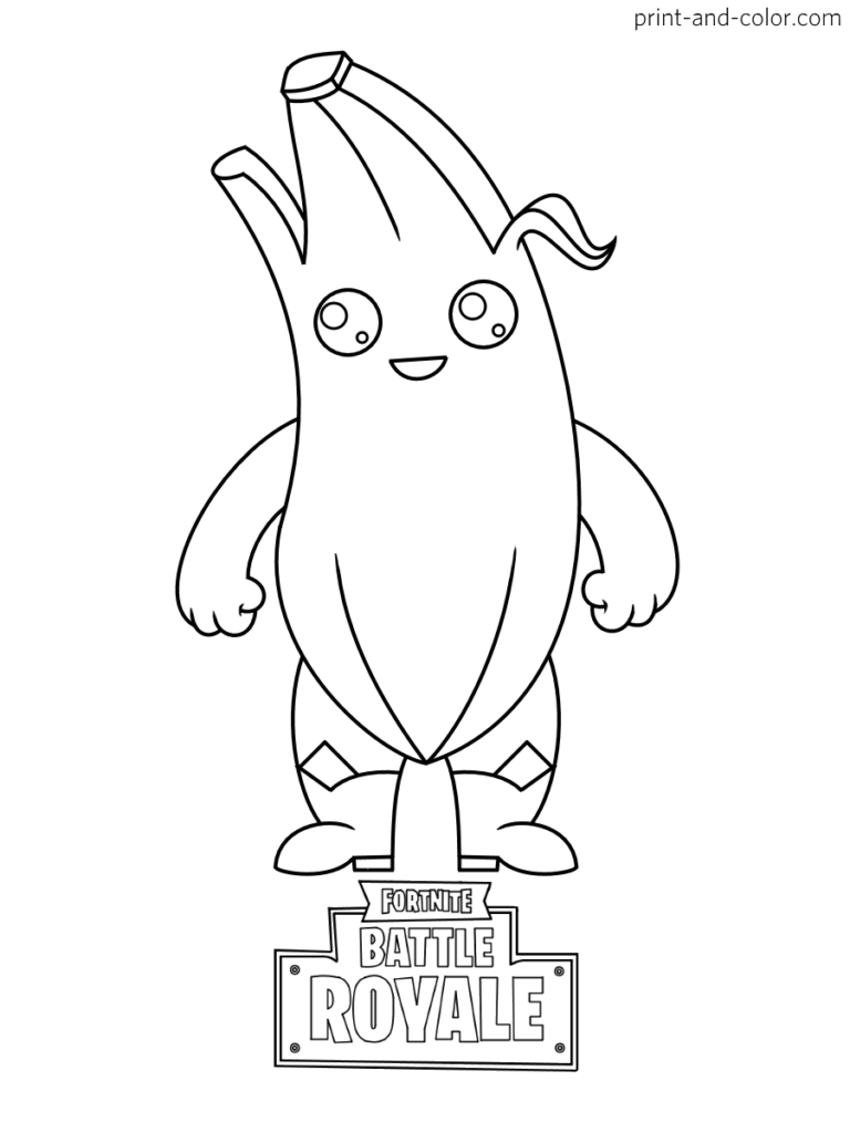 Fortnite Battle Royale Coloring Page Peely Chibi Skin