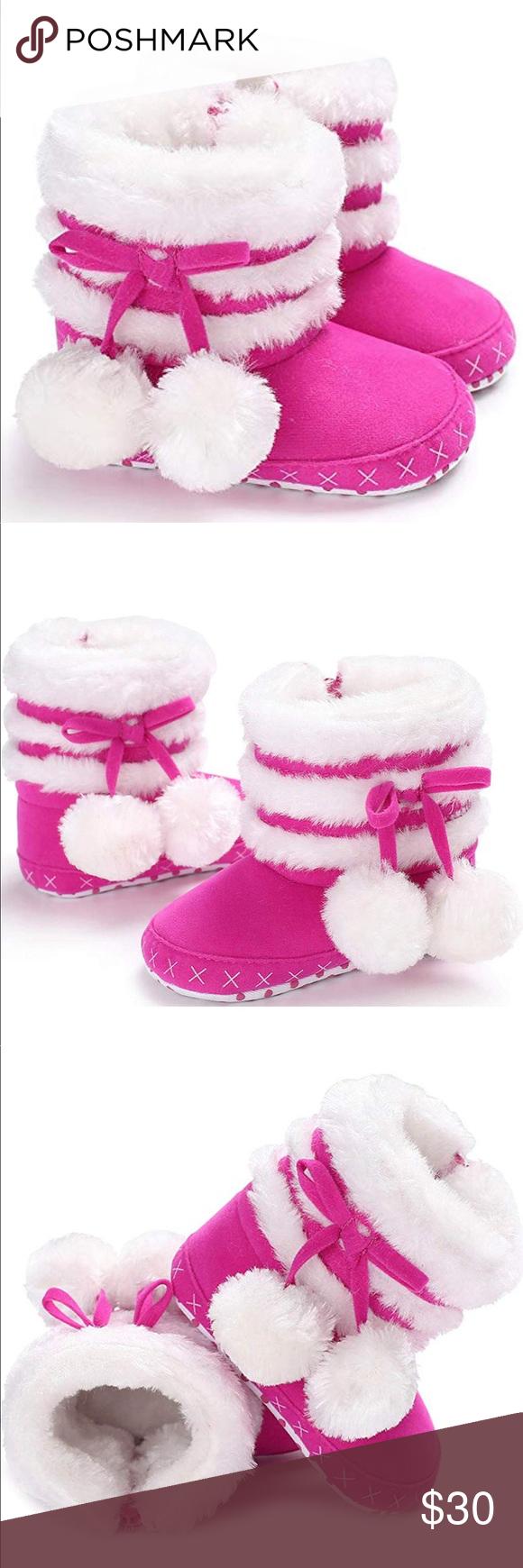Fur Lining Winter Zipper Soft Sole Snow Booties Fur Lining Warm Winter Boots Zip…