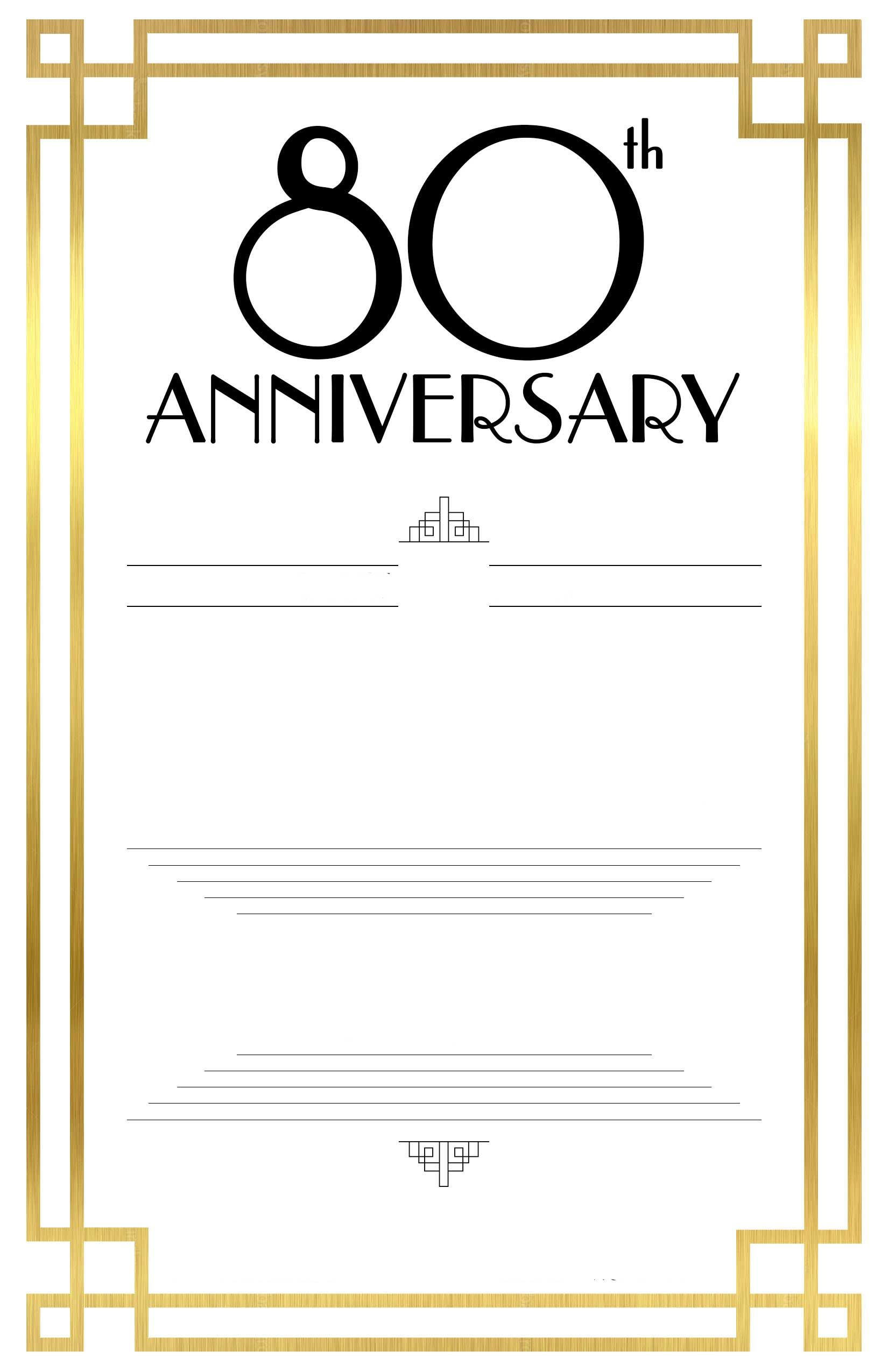 Awesome FREE Printable 80 birthday invitations Templates | FREE ...