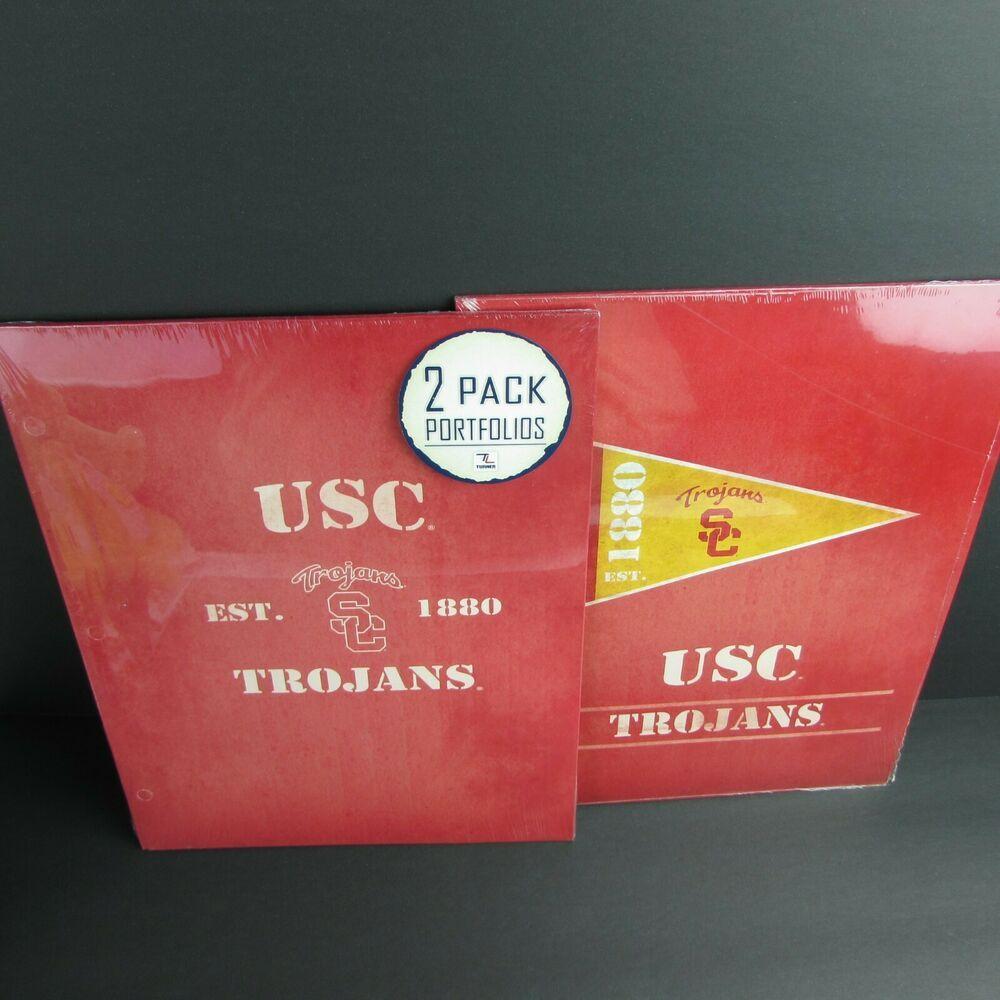 4 Usc Trojans Portfolio Folders School Supplies 9 5 X 12 Turner