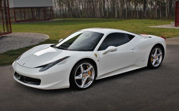 Akon\u0027s custom white ferrari 458 Italia