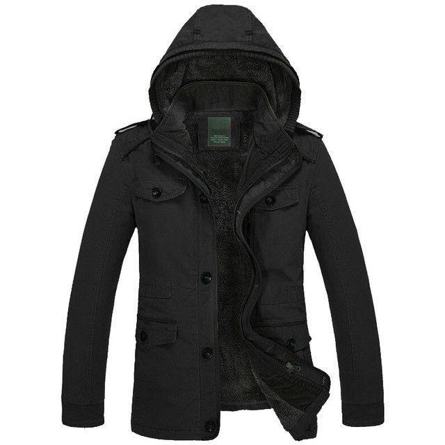 New Fashion Men's Fleece Overcoat Thickening Faux Fur Winter Coat Parka Men Super Warm Greatcoat Cotton Jacket