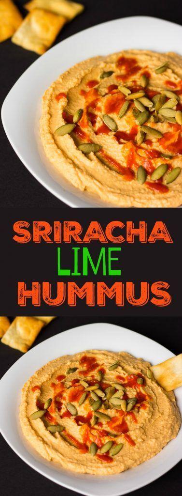 Sriracha Lime Hummus Recipe Appetizers Vegan Hummus