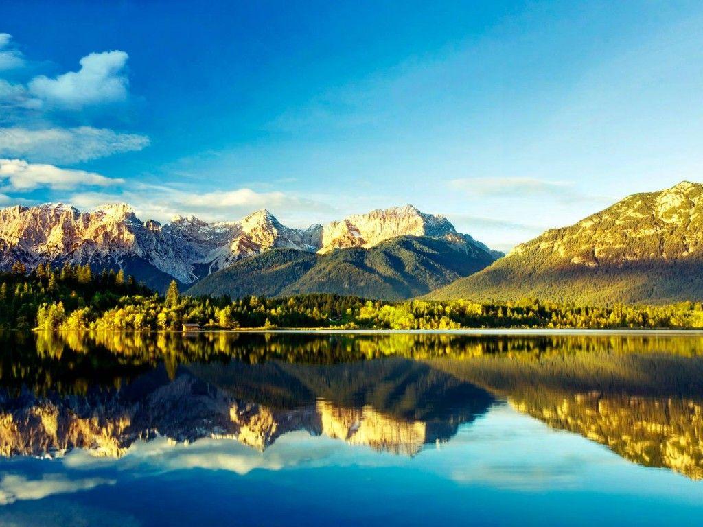 Fondo Escritorio Paisaje Bonita Nevada: Fondo Pantalla Paisaje Bosque Lago, Fondo De Escritorio