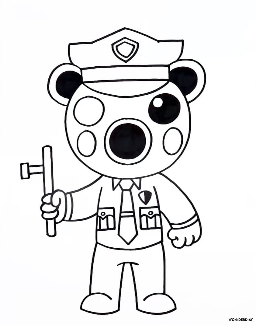 Coloring Pages Roblox. Piggy, Adopt Me and others. Print ...
