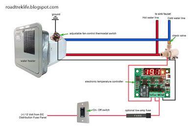 rv hot water recirculation system rv hacks rv water heater, rv  heater wiring an rv #9