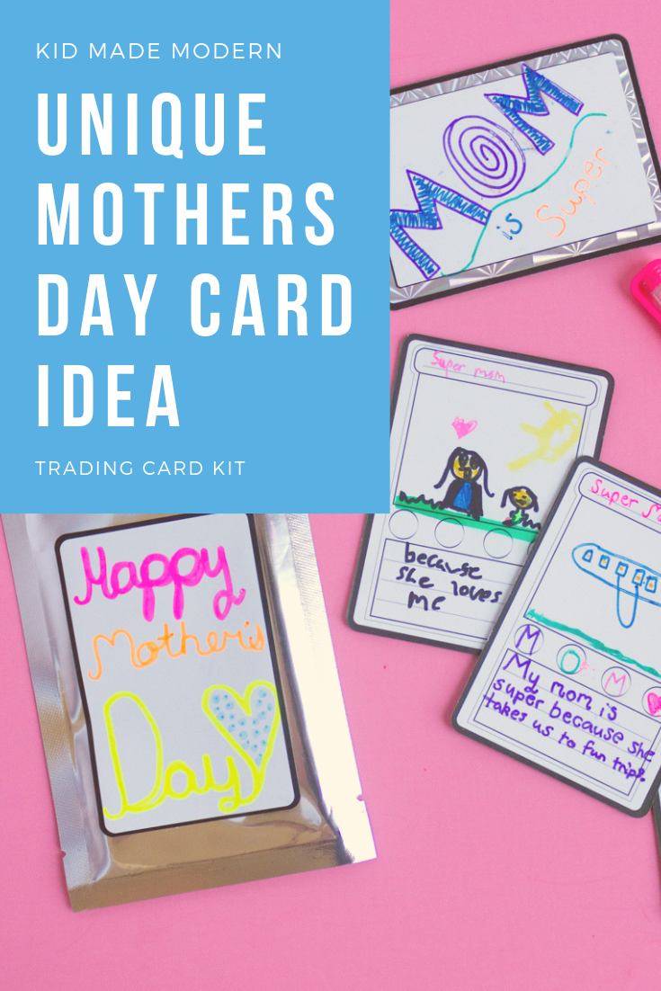 Mother S Day Trading Card Diy Diy Gifts For Kids Arts And Crafts Kits Mother S Day Diy
