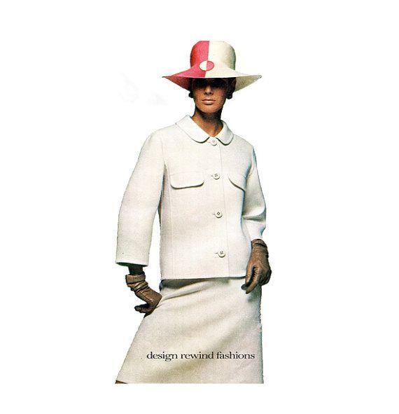 1960s Vogue 1653 JACKET BLOUSE & SKIRT Pattern Womens Suit 3/4 ...