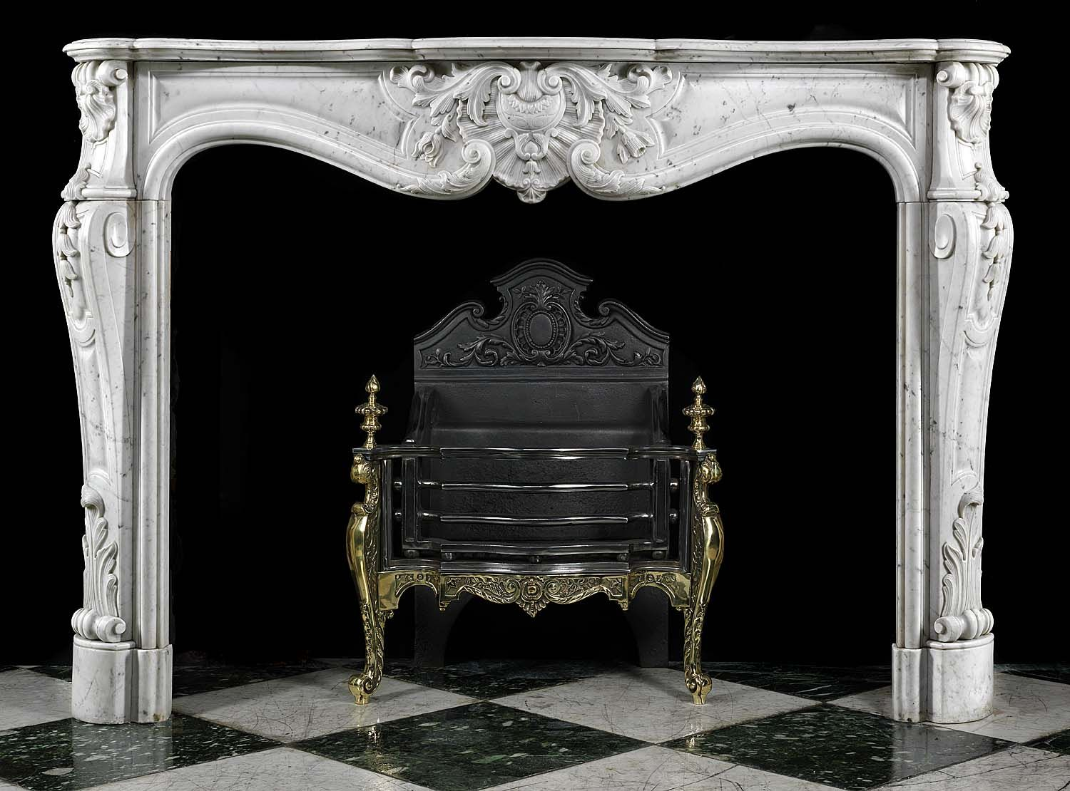 antique french louis xvi rococo carrara marble fireplace mantel