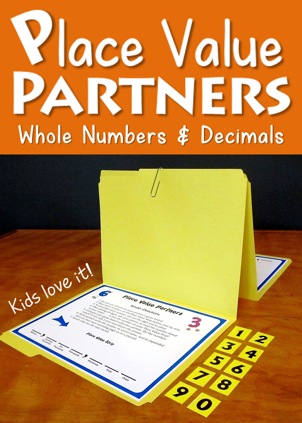 Place Value Partners Game From Laura Candler Awesome For Math Centers Place Value Game Includes Two Version Math Methods Math Instruction Third Grade Math [ 1413 x 1007 Pixel ]