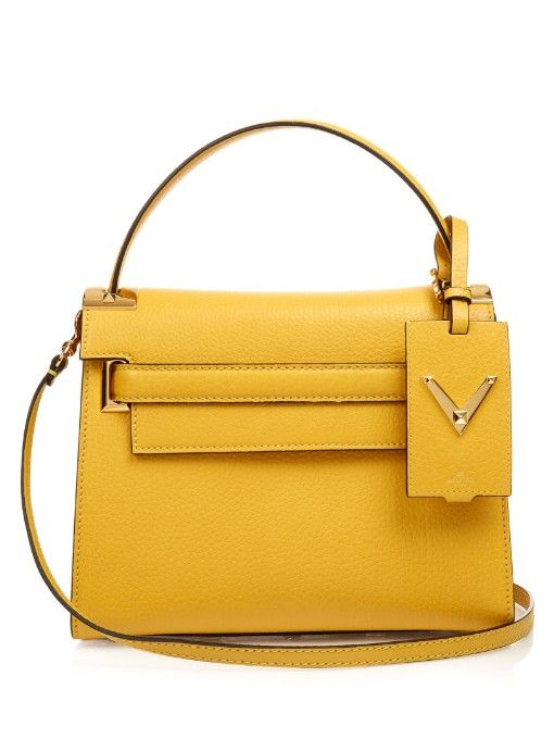 e294d44848 First introduced last season, Valentino's coveted My Rockstud bag returns  for SS16 in a host of feel-good shades. This mustard-yellow grained-leather  style ...