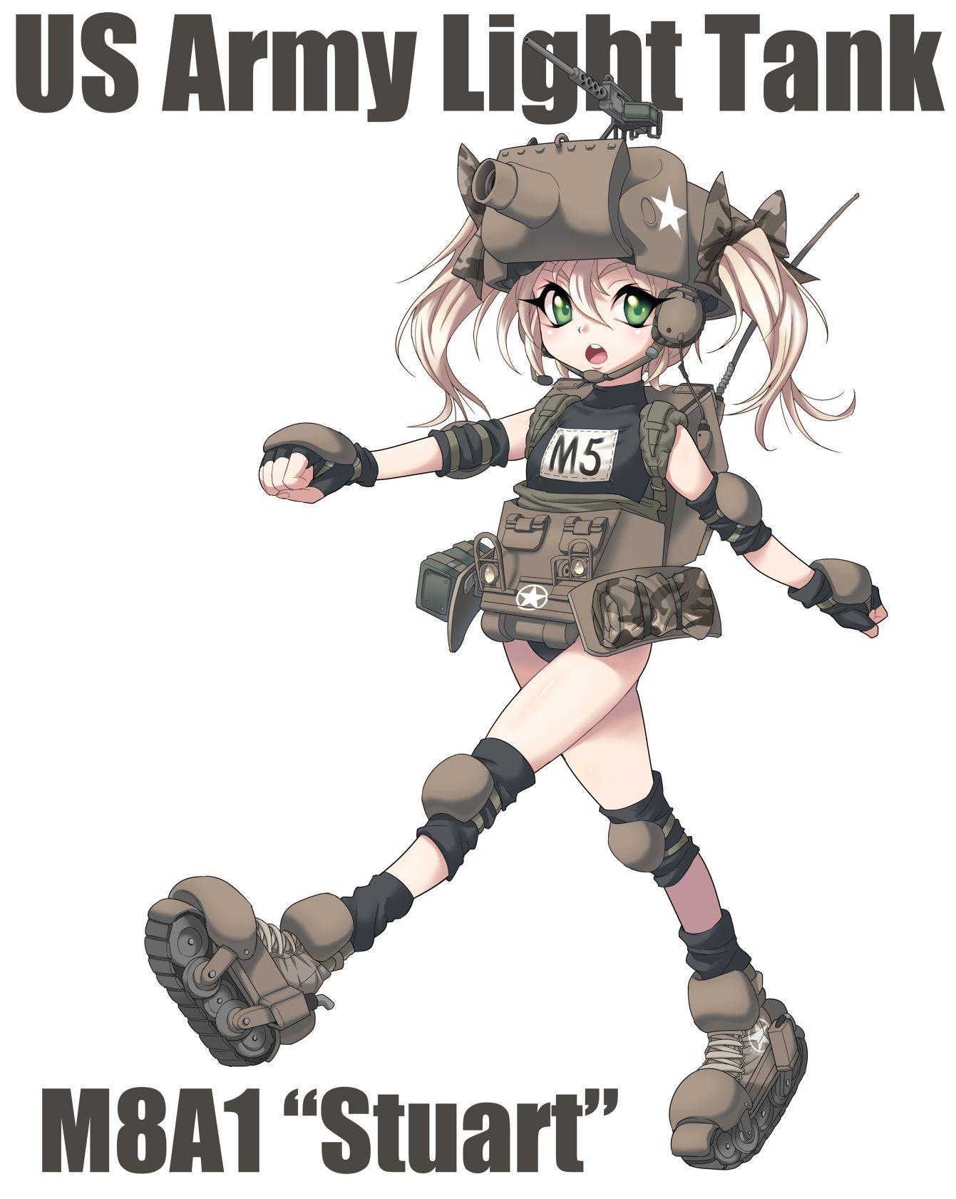 Mecha Musume Anime Tank Tank Girl Anime Military
